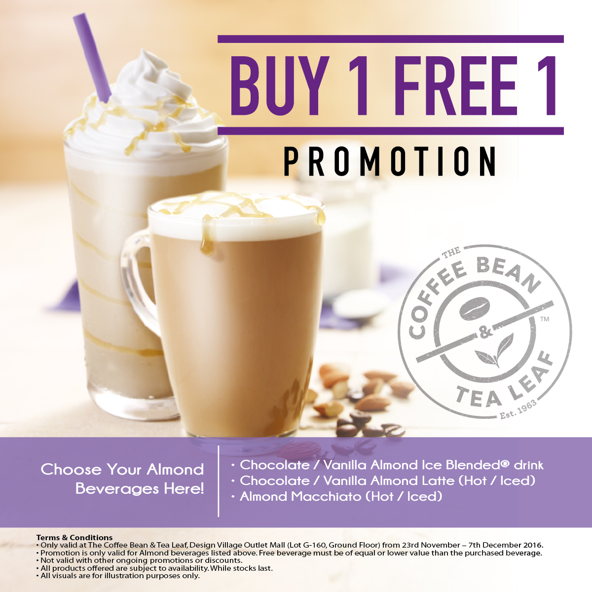 Design village coffee bean buy 1 free 1 promo for Buy cheap posters online