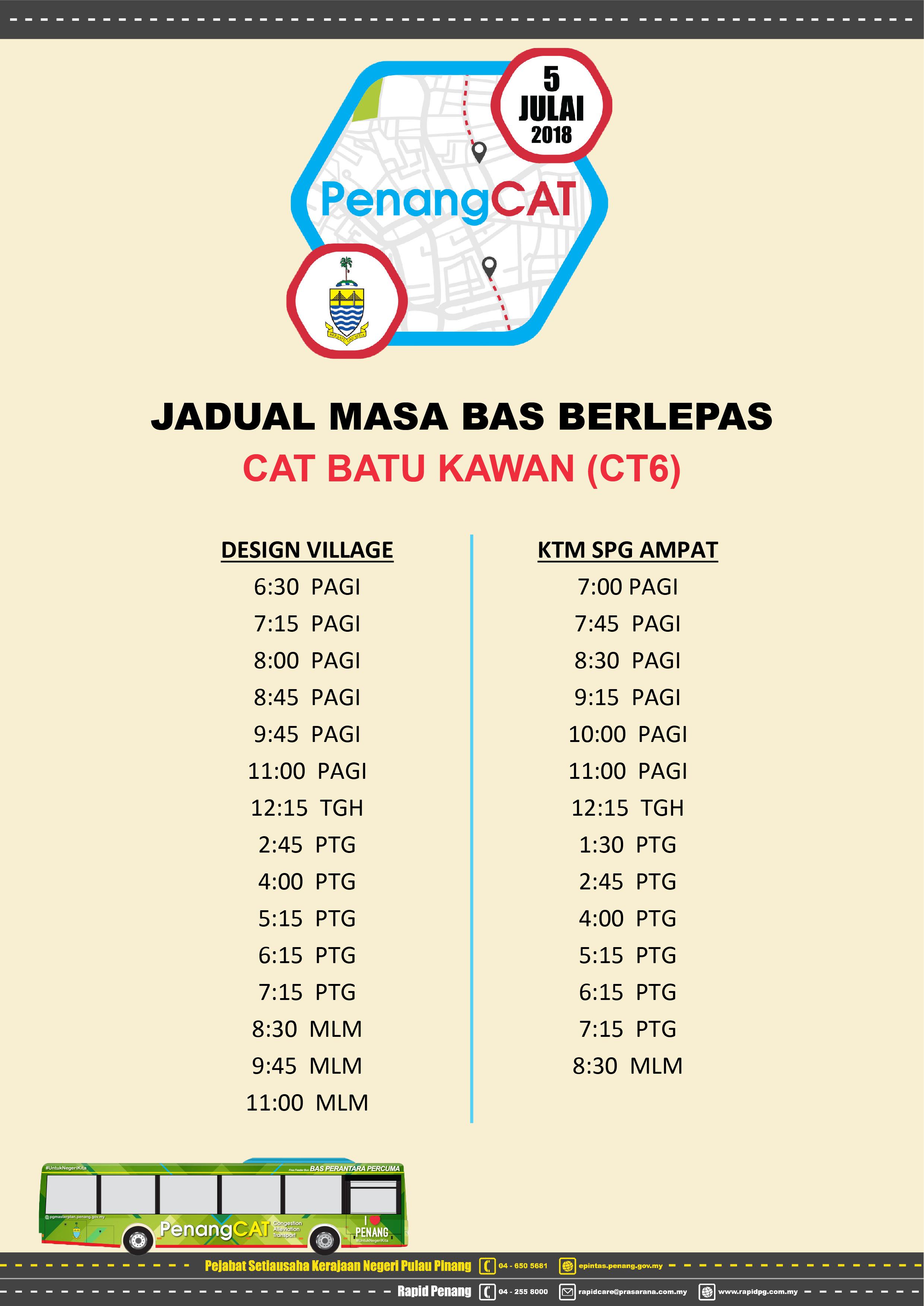 Penang CAT Batu Kawan_Departure Schedule-01