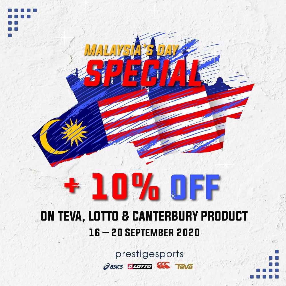 Prestige Sports_Malaysia's Day Promo